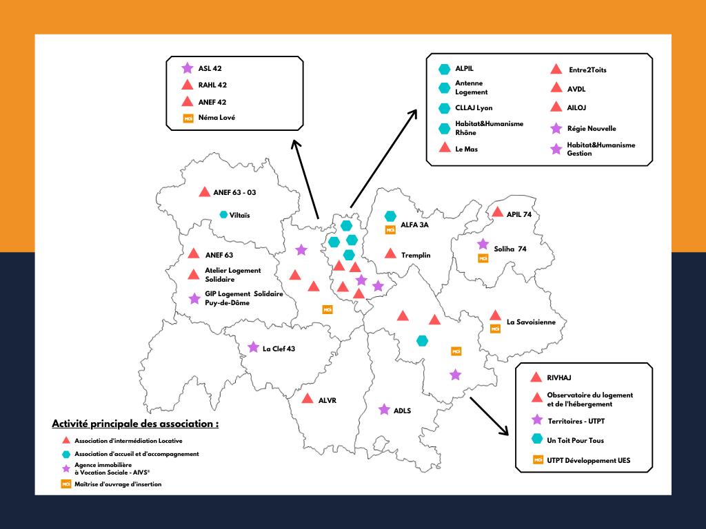 Carte réseau Fapil AURA 2021